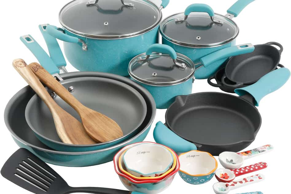 Pioneer Woman Vintage Speckle 24-piece Cookware Set